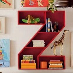 Alphabet Shelves