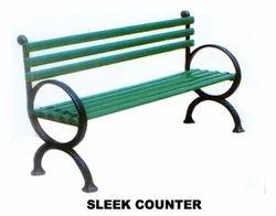 Sleek Counter Garden Bench