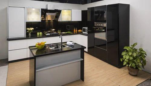 Plywood L- Shape Modular Kitchen