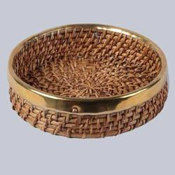 Decorative Round Wicker Tray