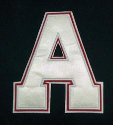 Custom Satin Letter Patch