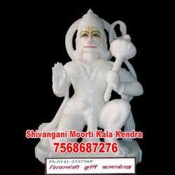 White Marble Hanuman Moorti