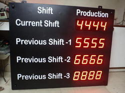 Black Production Display Board, Lighting Color - Red