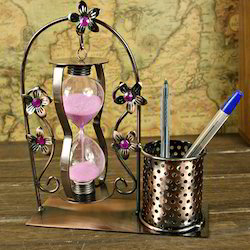 Sand Timer With Pen Holder