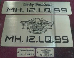 Brass Number Plate