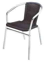 Wicker Hub Chocolate Cafeteria Cane Chair