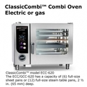 Classic Comb  Combi Oven Electric or gas