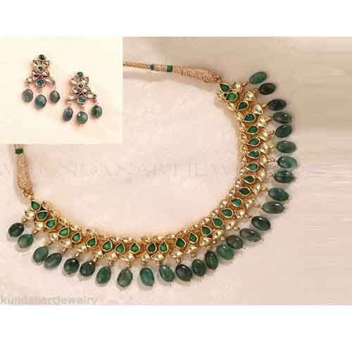 Indian Gold Plated Necklace Set-Bridal Necklace with Earring