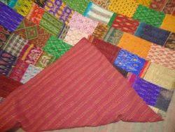 Silk Patchwork Kantha Quilt