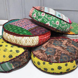 Vintage Patchwork Floor Cushion Covers