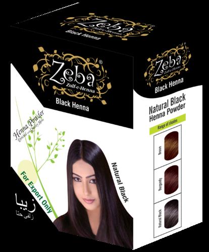 Zeba Natural Black Henna Powder Rs 75 Box Excell Impex Gujarat