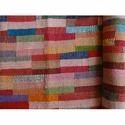 Multi Color Brick Pattern Kantha Quilt