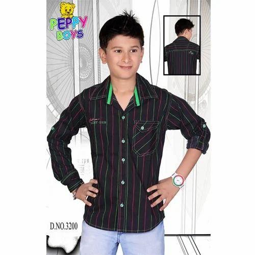 Boys Casual Lining Shirt, लड़के की कमीज - Peppy Boys, Mumbai   ID:  9472707497