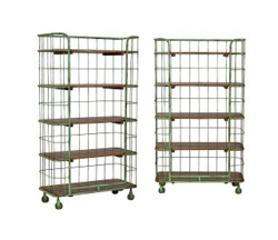 Industrial Iron Ad Wood Shelving Unit