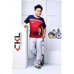 CKL Cotton Printed Boy T-shirts And Track Pant, Size: S - L
