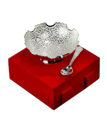Silver Plated Bowls with Spoon