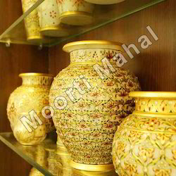 Decorative Printed Marble Pots