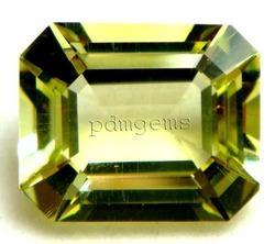 Lemon Quartz Faceted Octagon Gemstone
