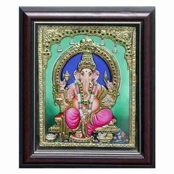 Mantapa Vinayagar Tanjore Painting