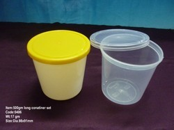 500gm Plastic Long Food Cont Set