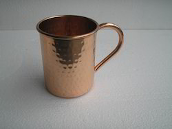 Solid copper Moscow Mule Copper Mug Hammered 16 Oz