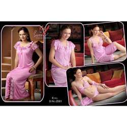 Ladies Six Piece Pink Nighty