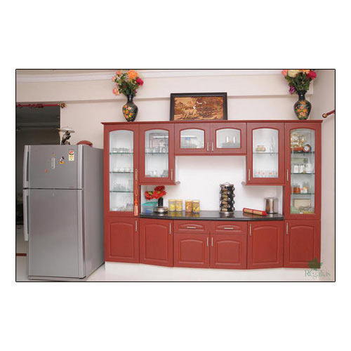 Brown regalias wooden wall unit rs 25000 unit regalias - Wall units for living room mumbai ...