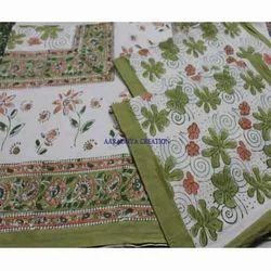 Hand Block Print Bed Sheet