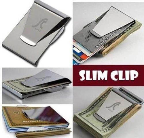 stainless steel slim money clip card holder wallet clips - Money Clip Card Holder