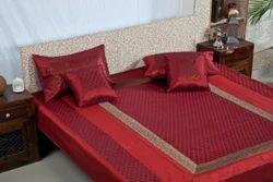 Silk Zari Work Bedsheet