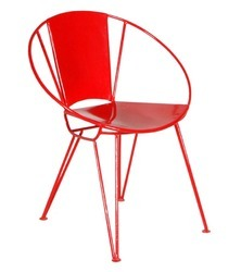 Red Cafe Metal Chair