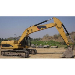 Yellow Earthmoving Excavator
