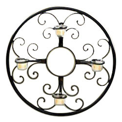Circular Wall Candle Holder