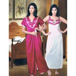 Ladies Two Piece Full Length Nighty