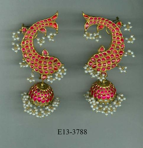 floral gold plated silver edited amrapali and jewels white crystal chakri zircon br studs