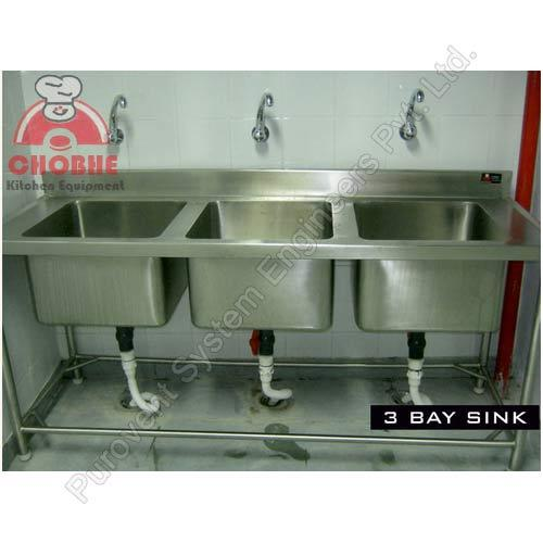 3 Bay Sink At Rs 25000 Unit Stainless Steel Sink Id 5913967188