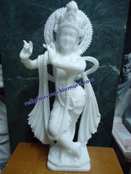 White Marble God Krishna Statue