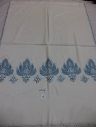 Fine Wool Hand Embroidered Chinar Border Stoles