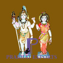 Lord Shiv Parvati Marble Statue