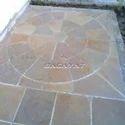 Autumn Brown Circle Stone
