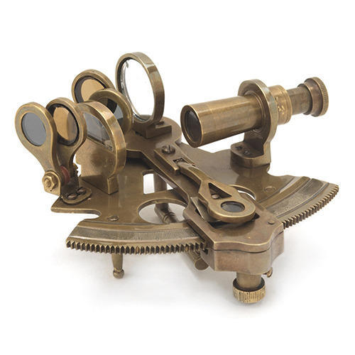 Nautical 7 Inches Sextant Marine Ship Working Instrument Antique Equipment Gift Bright Luster Maritime