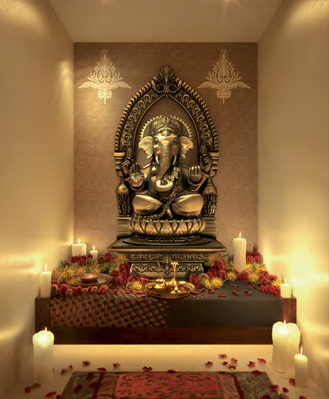 Lovely Pooja Room Interior Design Part 24