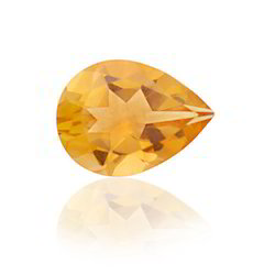 Pear Cut Citrine Lemon Gem Natural Stone