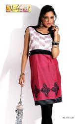 Western Party Wear Printed Kurti Tunic