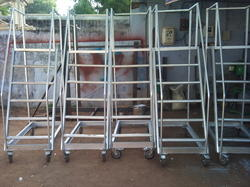 Step Ladder Aluminum Trolley