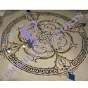 Multicolor Polished Imported Marble Flooring Inlay Design, Size: 60 * 60 (cm), Thickness: 15-20 Mm