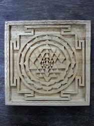 Natural Shreeparni Carving Shree Yantra