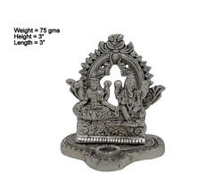 Small White Metal Laxmi Ganesha