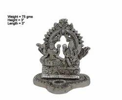 Small White Metal Laxmi Ganesha
