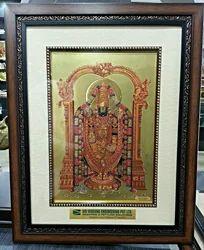 Gold Foil Thirupati Balaji Frame